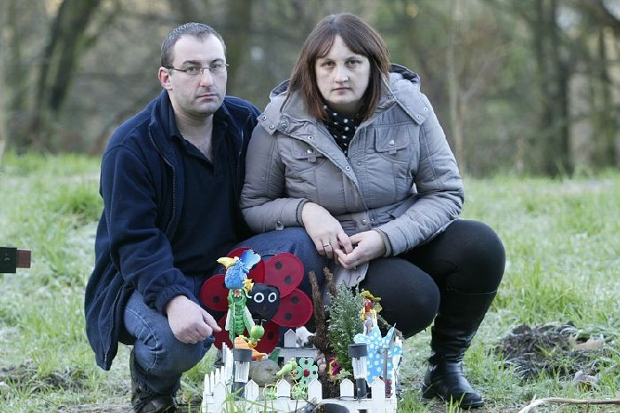 Why won't they leave us alone? Couple's baby grave heartache