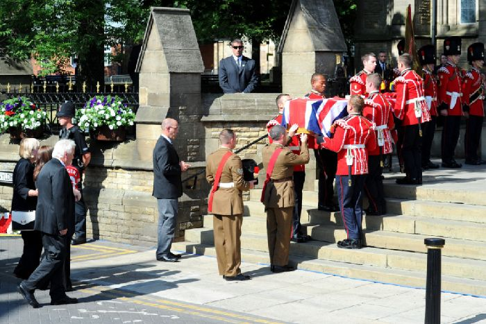 Lee Rigby funeral: Thousands mourn 'gentle' fusilier