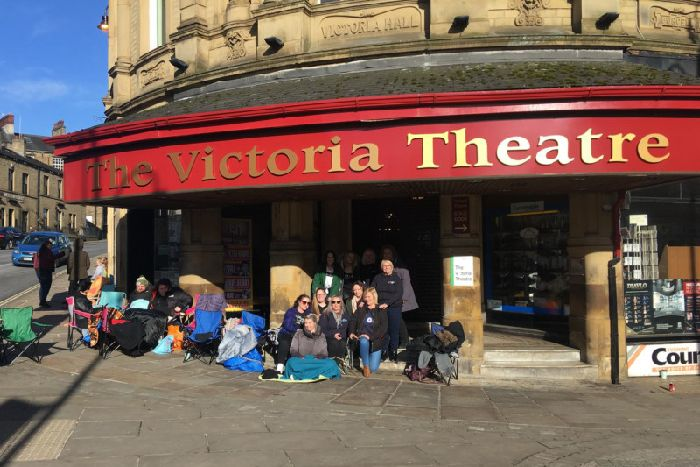 The Script fans brave the cold to queue outside Halifax's Victoria