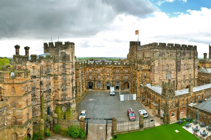 On Location The Crew Filmed Scenes At Lancaster Castle For A New Movie Directed By