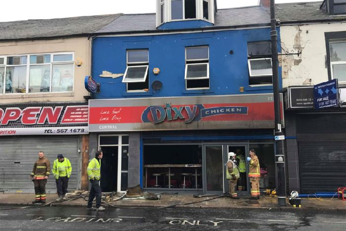 Footage shows fire damage at Dixy Chicken branch after blaze rips ...