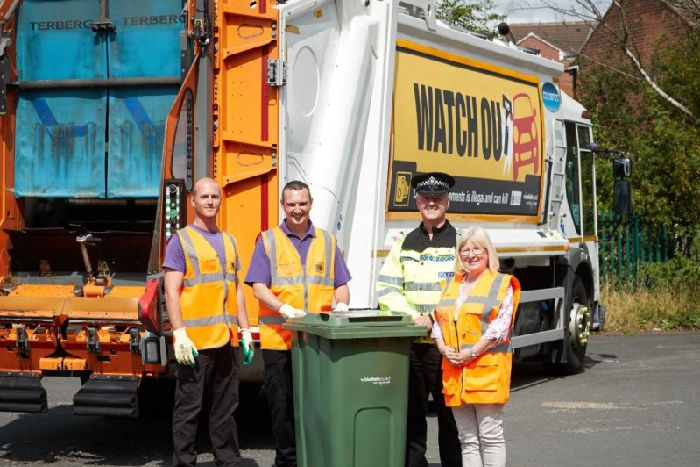Wakefield Council to tackle pavement drivers who endanger bin lorry