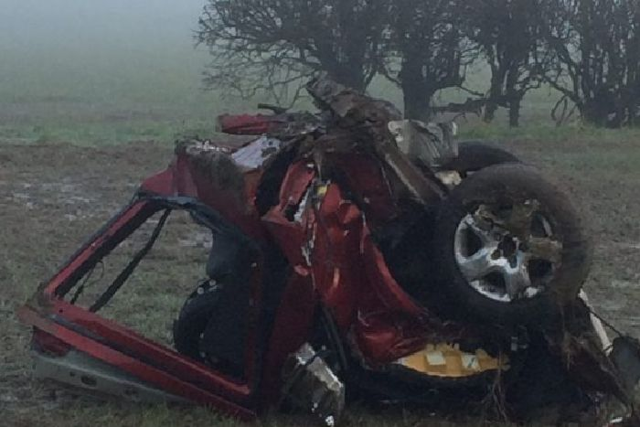 Dramatic photos show car torn in two after Harrogate crash