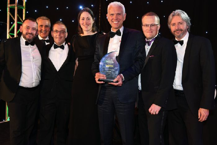 Yorkshire Post Excellence in Business Awards at the National Railway Museum in York.'Exporter Award winners Sewtec.'1st November 2018.