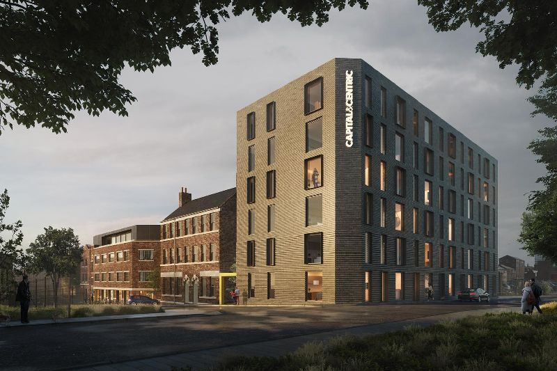 An artist's impression of the new Eye Witness Works redevelopment