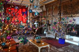Some of the amazing decorations at Burton Agnes Hall last year.