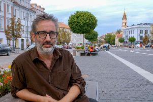 Confronting Holocaust Denial with David Baddiel will air on Monday. Picture: PA Photo/BBC/Wall to Wall Media Ltd/Laurence Turnbull.