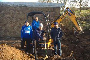 Scalby Sports Association members celebrate breaking ground on their long-awaited pavilion extension