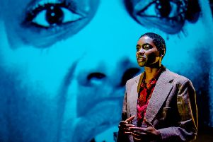 Keicha Greenidge as Charlie in imitating the dog's production of Heart of Darkness. (Picture: Ed Waring).