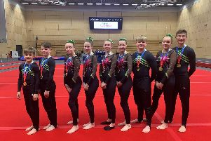 Scarborough Gymnastics Academy's Junior Mixed team who won gold medals at the Northern Teamgym Championships