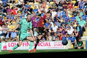 Bradford City's Harry Pritchard: Scoring against Carlisle. Picture: Simon Hulme