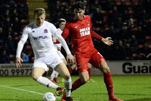 Fylde's top scorer Danny Rowe barely got a sniff at Leyton Orient but hopes for better at Aldershot tomorrow        Picture: STEVE MCLELLAN
