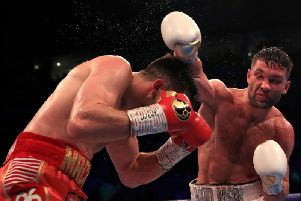 Scott Fitzgerald on his way to victory over Anthony Fowler'Photo: Matchroom Boxing