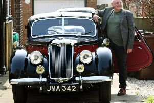 A classic car believed to have once belonged to a legendary brass bandsman will be in the limelight at the regions favourite motor show with current owner Andrew Greenhough.