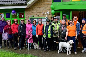 Some of the volunteers who turned out for the litter pick.