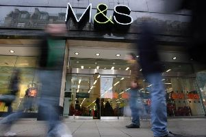 File photo dated 9/1/2008 of the exterior of store front of Marks and Spencers in central London.  The high street giant said today that it would roll out more discounts in a bid to pull in customers after weak homewares sales dragged on its Christmas performance. PRESS ASSOCIATION Photo. Issue date: Tuesday January 10, 2012. M&S, which has more than 700 stores in the UK, recorded a 1.8% like-for-like decline in general merchandise sales, excluding VAT, in the 13 weeks to December 31, while food sales were up 3%. The City forecast a 1.5% decline and 1.5% increase respectively. See PA story CITY Marks. Photo credit should read: Lewis Whyld/PA Wire