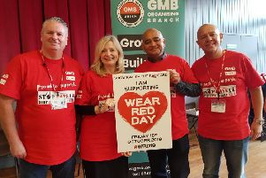 Common goal: GMB's Neil Derrick, Tracy Brabin MP, actor Bhasker Patel and GMB's Tim Roache.