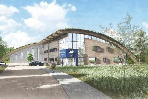 An artist's impression of the proposed new Ingol training ground.