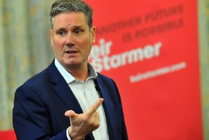 Sir Keir Starmer in Batley. Picture: Gary Longbottom.