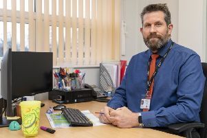 Headteacher Andrew Midgley is vowing to turn around a poor Ofsted report for Carlinghow  Princess Royal Primary School. Picture Scott Merrylees
