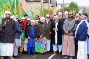 Massive turnout: Thousands of people from Dewsbury, Batley and Heckmondwike took part in the Eid-Milad Peace Procession.