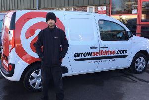 Tyler Roberts, 20, whose placement was at Arrow Self Drive, was named 'best of the best'.