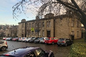 The former Batley Police Station, on Market Place Conservation Area