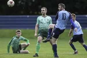 Paul Walker produced some dangerous crosses but Liversedge were held to a draw by AFC Mansfield as they slipped six points behind NCE Premier Division leaders Staveley Miners. Picture: Allan McKenzie