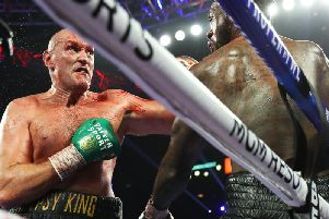 Tyson Fury backs up Deontay Wilder. Picture: Mikey Williams/Top Rank