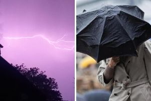 Could Yorkshire be hit by thunder and hail?'Left pic: Andrew Manning