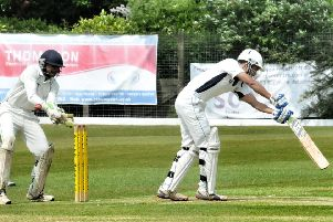 Preston batsman Mohammad Harish'' in action against Fulwood and Broughton in the Northern League last summer