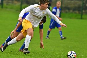 Scott Lightowler was among the goal scorers as Crackenedge defeated neighbours Fox and Hounds 4-0 last Saturday to book a quarter-final place in the West Riding County Challenge Trophy. Picture: Paul Butterfield