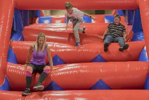 Assault course: The City Ninja event will take place at the University of Huddersfield Sports Hall.