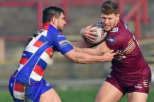 Lewis Bienek made his Bulldogs debut against Rochdale Hornets having joined on loan from Hull FC. Picture: Paul Butterfield