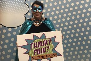 Teal hero: Paula Sherriff MP has been helping to raise awareness of the symptoms of ovarian cancer.