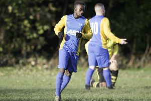 Gibril Bojang scored as Mirfield Town defeated Wellington Westgate to reach the Heavy Woollen Challenge Cup final