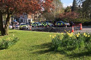 Police were called at 3.30pm yesterday.