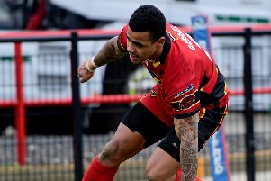 Andy Gabriel opened the scoring for Dewsbury Rams as they overcame a brace effort from amateurs Thatto Heath to reach the Challenge Cup sixth round.