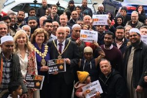 Batley folk from all walks of life joined to stand with Sri Lanka on Friday.