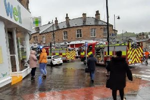 Emergency services attend the scene in Batley town centre.