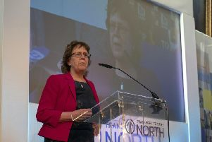 Judith Blake at Transport for the North (TfN) inaugural conference at Cutler's Hall in Sheffield in February. Picture: Scott Merrylees.