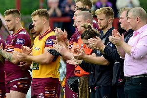 Batley players and supporters paid tribute to Beverley Nicholas before kick off last Sunday.