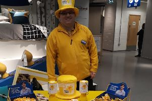 Ryan, a co-worker at IKEA, helped rasise more than �600 at the store collection.