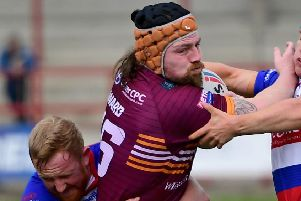 Michael Ward is set to play the 200th game of his career if he features against Sheffield Eagles on Sunday with 41 of those appearances coming for Batley. Picture: Paul Butterfield