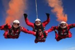 The Red Devils parachute display team, who will be part of the family entertainment at Southwell Racecourse.