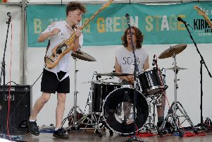Leeds band Scum on stage at the Kirkstall Festival. Picture: Simon Hulme
