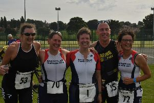 Competitors at the Bassetlaw Sprint Triathlon.
