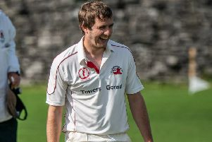 Garstang CC's Ian Walling celebrates another wicket     Picture: Tim Gilbert/Preston Photographic Society