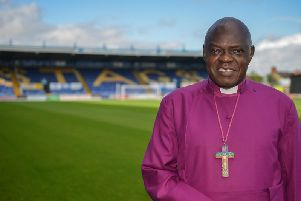 Launch of oneLIFE mission at Mansfield Town FC ground, pictured  is Archbishop of York John Sentamu