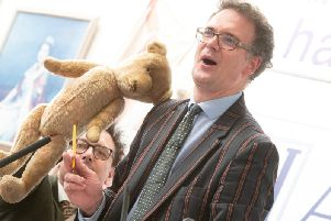 Bear with Charles Hanson at the auction